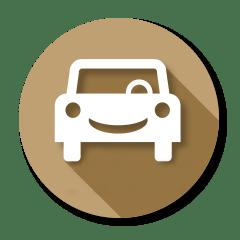 Smiling automobile icon