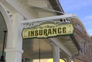 The Villages Insurance street sign