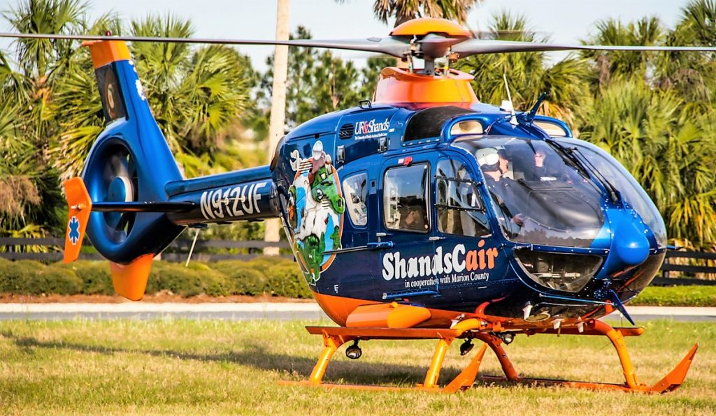 Shands helicopter