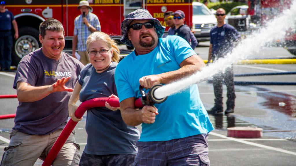Paul Davis Restoration team competing in Braveheart Corporate Challenge